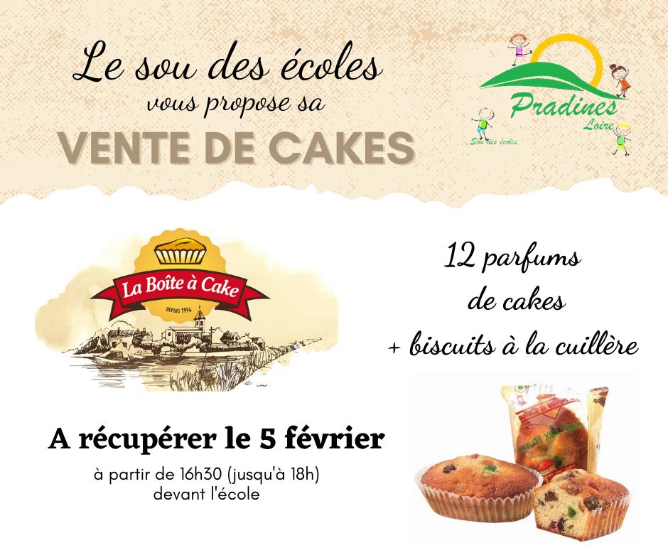 Vente de cakes Sou des Ecoles Pradines