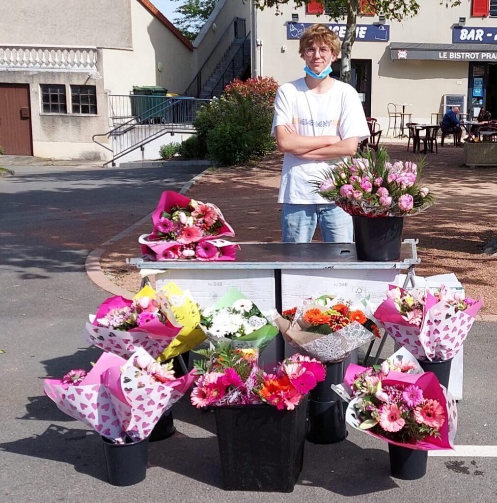 Les fleurs du marché de Pradines