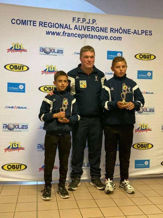 Pétanque pradinoise Les champions Rhône-Alpes